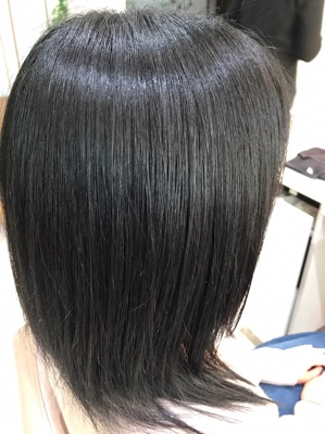 縮毛矯正後のスタイル写真