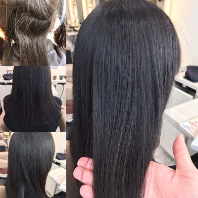 縮毛矯正前から縮毛矯正後のスタイル写真