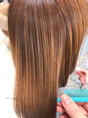 髪質改善後の髪