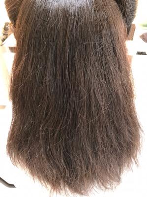 縮毛矯正前の髪の状態