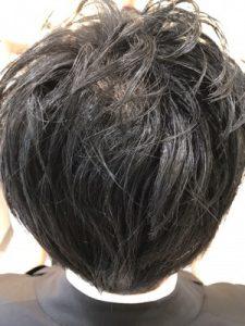 縮毛矯正後の写真