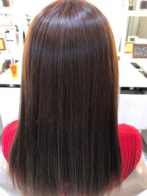 縮毛矯正後の髪