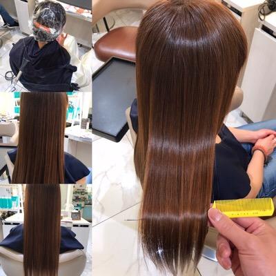 髪質改善トリートメント前から髪質改善トリートメント後の髪