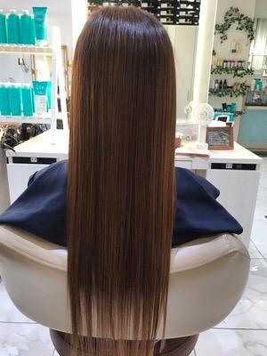 髪質改善トリートメント後のバッグスタイル