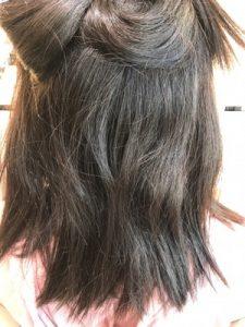 縮毛矯正をかける前の髪