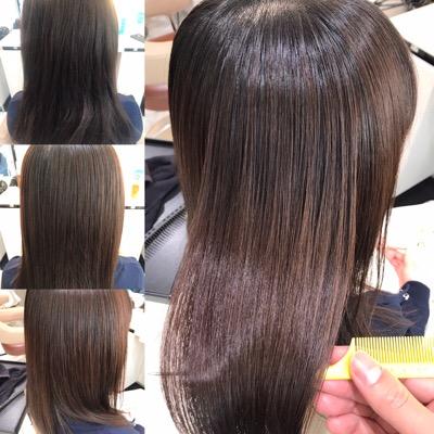 縮毛矯正前から縮毛矯正後の仕上がり