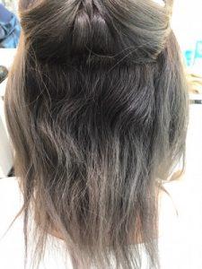 ブリーチ毛に縮毛矯正をかける前の髪