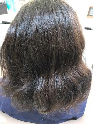 縮毛矯正をかける前の写真