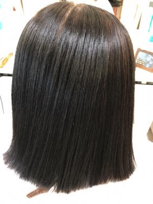 髪質改善縮毛矯正の途中経過