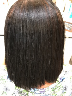 髪質改善縮毛矯正の仕上がり