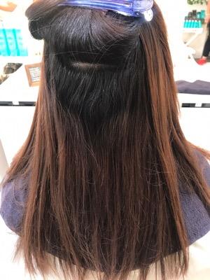 髪質改善縮毛矯正前の写真