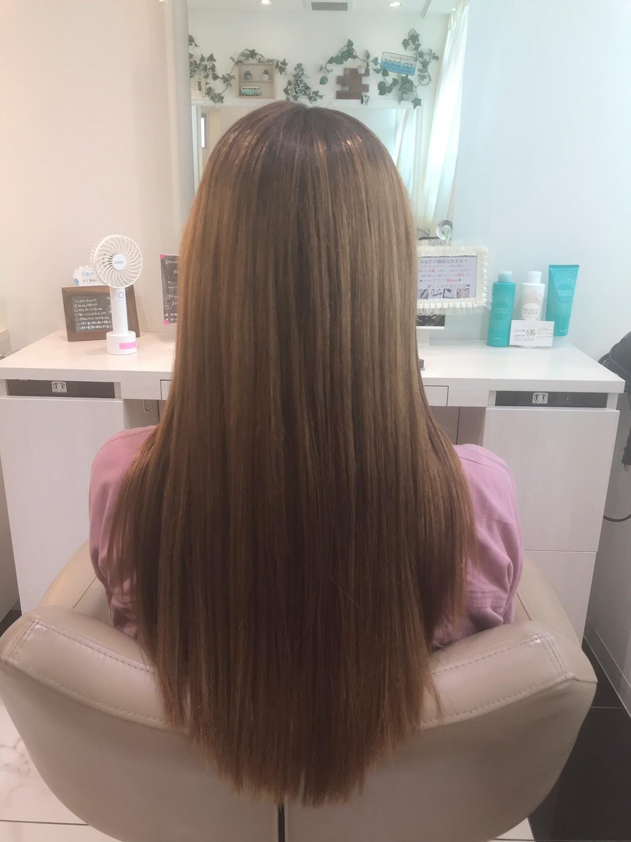 髪質改善縮毛矯正の後日の状態
