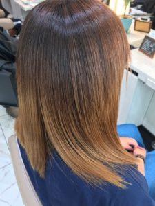 ブリーチ縮毛矯正に髪質改善トリートメントをやった状態