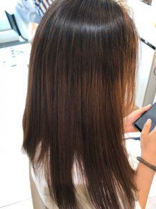 髪質改善トリートメント後の髪の状態