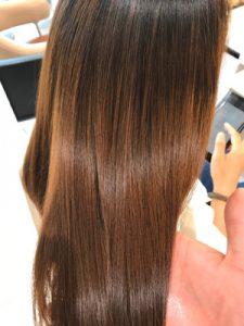 髪質改善トリートメントのツヤ画像