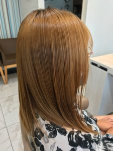 髪質改善縮毛矯正後の髪