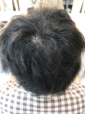 縮毛矯正をかける前の状態