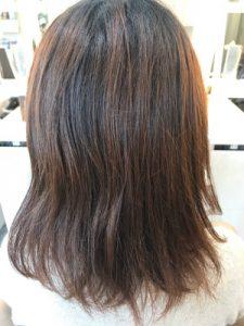 縮毛矯正とカラーをやる前の髪の状態