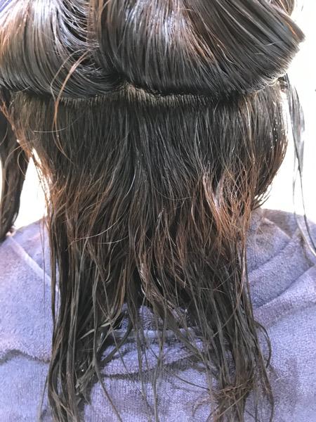 髪質改善縮毛矯正をする前の髪