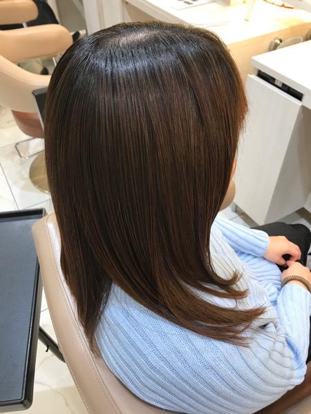 髪質改善縮毛矯正が終わった状態