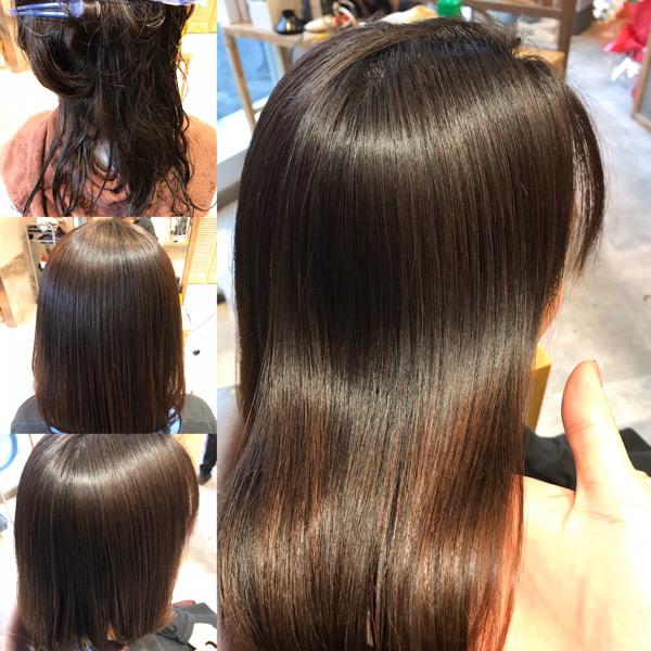 縮毛矯正の最初から最後までの髪の状態