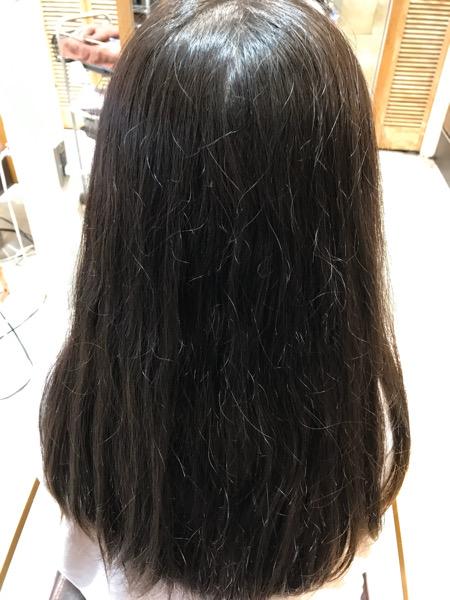 縮毛矯正前の状態