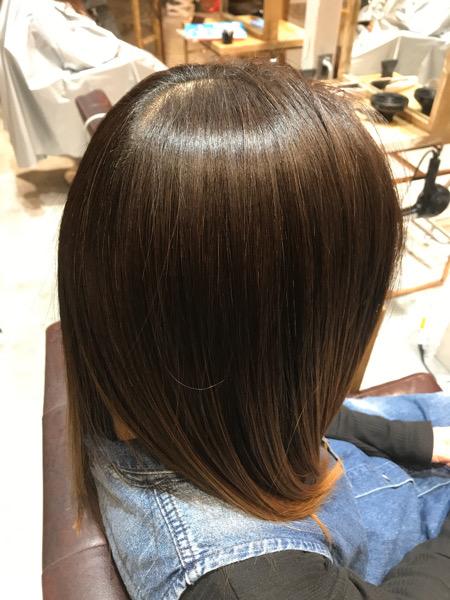 髪質改善縮毛矯正の仕上がりサイドバックショット
