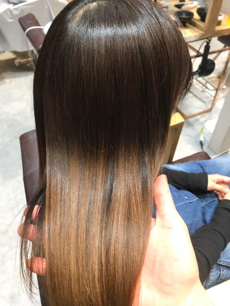髪質改善縮毛矯正のツヤ