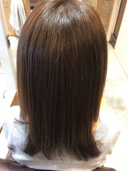 髪質改善トリートメントのバックショット