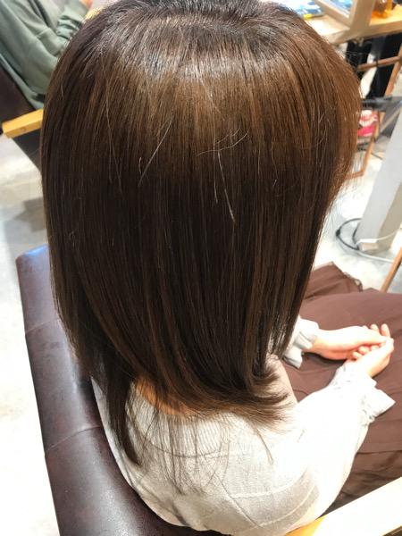 髪質改善トリートメントのサイドバックショット