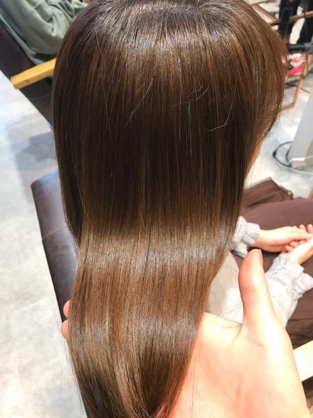 髪質改善トリートメントのツヤ
