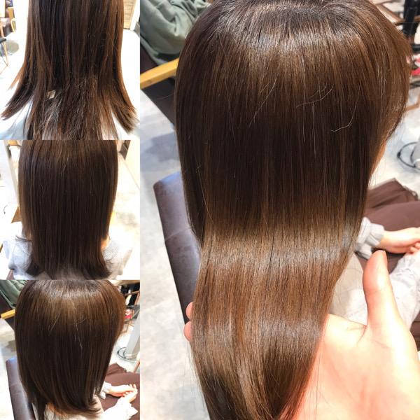 髪質改善トリートメントおwやる前からやった後の写真