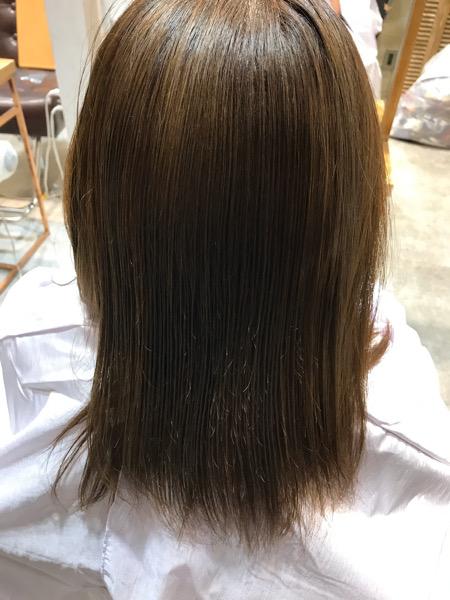 縮毛矯正から10日経過した髪