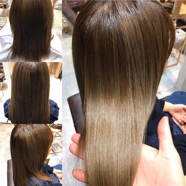 髪質改善トリートメント前から後の写真