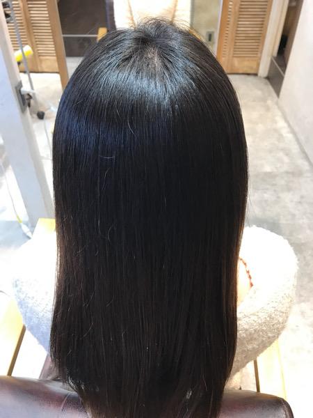 縮毛矯正をかけた後の髪の状態