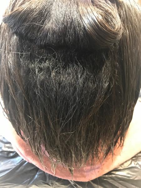縮毛矯正をする前の髪の状態