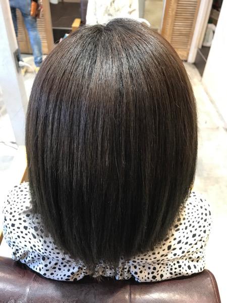 縮毛矯正と髪質改善トリートメントをやった後の髪の状態