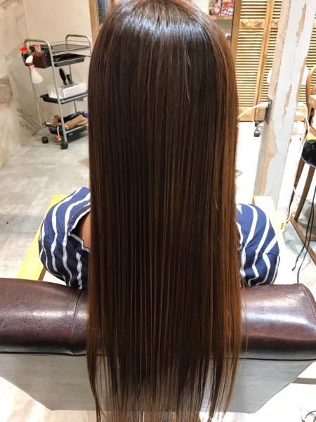 髪質改善トリートメントを施術したバックスタイル