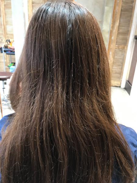 コスメストレートをする前の髪の状態