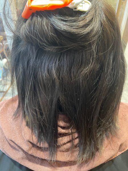 縮毛矯正をかける前の髪の状態