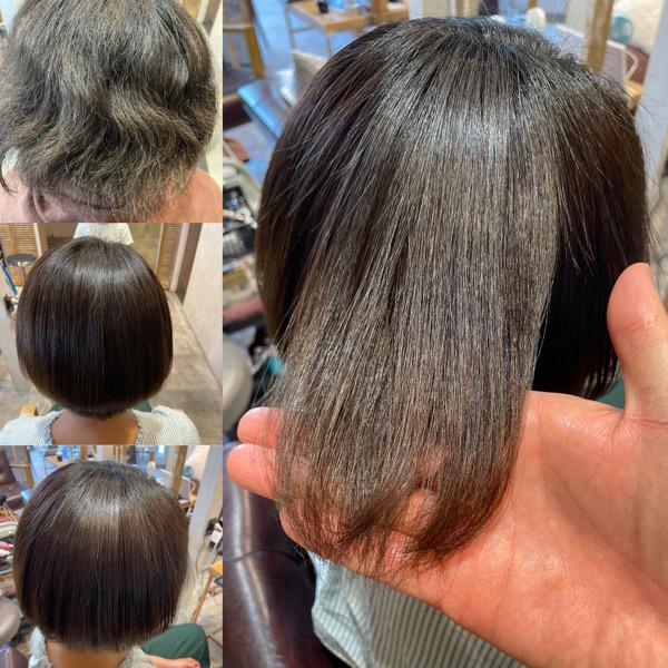 ブリーチ縮毛矯正をした髪の状態