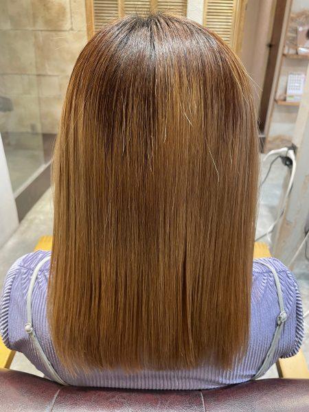 ブリーチ髪質改善縮毛矯正をした後の髪の状態