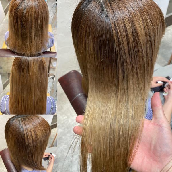 ブリーチ髪質改善縮毛矯正の写真