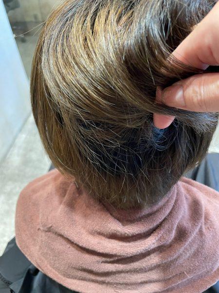 ブリーチ毛に髪質改善縮毛矯正をする前の髪の状態