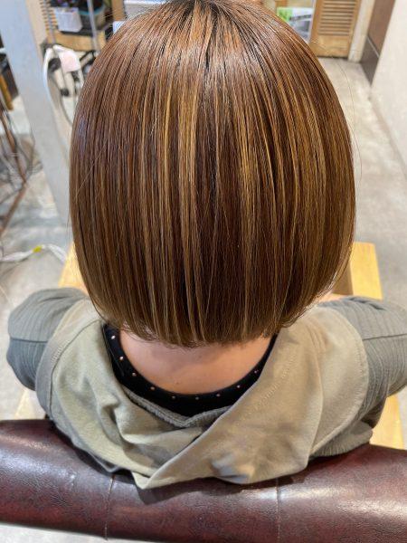 縮毛矯正と髪質改善トリートメントをブリーチにした髪の状態
